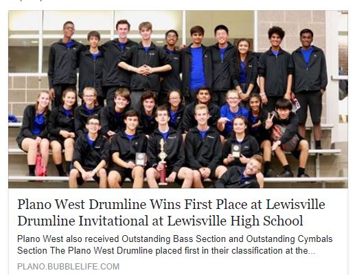 Percussion Lewisville win